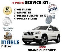 für Jeep Grand Cherokee 3.0 TD 2010- > Öl Luft Kraftstoff x2 Pollenfilter