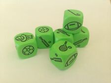 Green Sports Dice 18mm (pack of 5) - Numeracy Maths Sport Resource D045