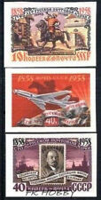 USSR Russia 1958 Mi 2114+18+19B ** Horse Aviation Aircraft Plane Lenin