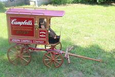 "Vintage Rare Campbell Soup Collectible wagon Replica 36"" tall"