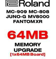 ROLAND MC909 MC808 JUNO-G XR AKAI Z4 Z8 MPC4000 64MB Sample Memory Upgrade.