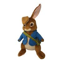 "Peter Rabbit Bunny Cartwheel Kids Plush Stuffed Animal Toy Blue Jacket 16"""