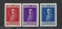 LIECHTENSTEIN - 111-113 -  MNH - 1933 - 80TH BIRTHDAY OF PRINCE FRANCIS I