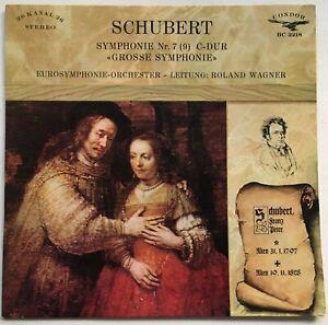 ROALND WAGNER / SCHUBERT Symphonie Nr. 7 i C-Dur RONDOR (GERMANY) EX/VG+