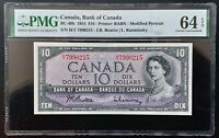 1954 Bank of Canada $10 Modified Portrait H/T7990215 PMG CH.UNC64 EPQ BC-40b