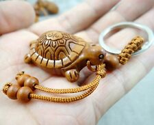 carved Lucky tortoise Wooden Crafts,Key Chain,Key Ring Lover Gift Accessories