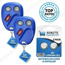 Replacement for 2003 2004 2005 2006 Chevy Silverado Remote Car Key Fob Pair Navy