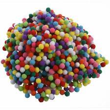 1000 Pcs 10mm Mixed Color Soft Fluffy Pom Poms Pompoms for kids Crafts O3N4