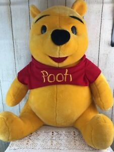 "29"" Tall Disney WINNIE THE POOH BEAR Plush, Large Big Stuffed Animal, EUC"