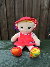 Little Tikes Red Plush Clip On Buggy Pram Dolly 10 Inches