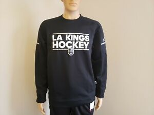 Adidas LA Kings Hockey Crew Sweatshirt D78607 Men's Size Medium Black