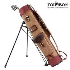 Tourbon Golf Club Stand Bag Carry Cart Travel Case Staff Pack Vintage Rain Cover