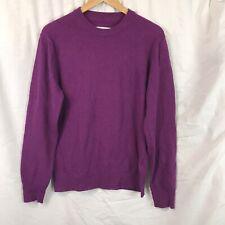 Women's Officine Generale 100% Cashmere Purple Pullover Sweater Sz S Barneys NY