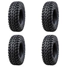 Tusk Terrabite Radial ATV UTV Tire Kit Set (2) 27x9-12 (2) 27x11-12 DOT Approved