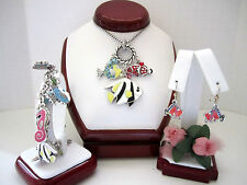 "Brighton ""SEA FROLIC"" Necklace-Earring-Bracelet Set (MSR$214) NWT/Pouch"