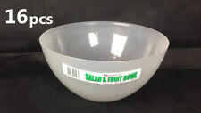 16x 27cm Salad Bowl and Fruit Plastic Bowl Serving Bowl Party Kitchen #2817