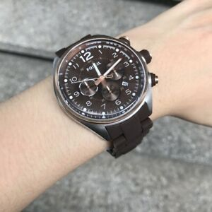 Fossil Watch * CH2727 Flight Chronograph Brown Silicone on Steel Men COD PayPal
