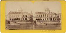 Paris Le Tribunal de Commerce France Photo Stereo Vintage Albumine ca 1870