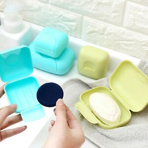 Portable Travel Soap Dish Box Case Holder Container Home Bathroom Shower Healthy