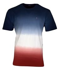 Tommy Hilfiger Men's Cotton T-shirt - Regular Fit - Blue/White/Red