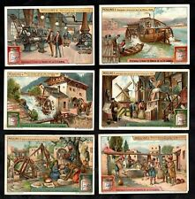 Watermills & Windmills Cards Set 1922 Liebig Moulins Egypt Holland Flour Farming