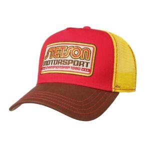 Stetson Trucker Cap Motorsport II rot/gelb Baseballcap Meshcap Sommercap Mützen