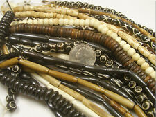 20 STRANDS RANDOM MIX NATURAL BONE BEADS LOT (111620169)