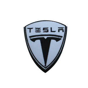 Tesla MotorCar Brand Logo Patch Iron On Patch Sew On Embroidered Patch