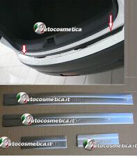 protezione carico paraurti+4 battitacco acciaio cromo per  Nissan Qashqai 7-13