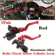7/8'' Aluminum Clutch Brake Levers Master Cylinder Reservoir Set For Motorcycle