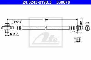 Flexible de frein VW PASSAT (3B2) PASSAT (3B3) PASSAT  (3B2) PASSAT  (3B3) PASSA