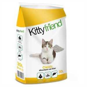 Kittyfriend Original Classic Non Clumping Cat Kitten Litter 30ltr