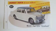 "Dinky Toys Atlas - Fascicule SEUL de la Fiat 1200 ""Granluce"" (Booklet only)"