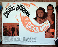 Vintage Original 1956 - CASABLANCA Movie Poster Bogart Ingrid Bergman art film