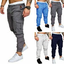 Pantaloni da uomo blu in cotone slim
