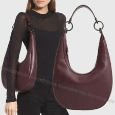 NWT 🍇 Rebecca Minkoff Sofia Leather Shoulder Hobo Bag In Currant Purple