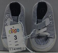 Circo Infant Boys White & Blue Axel Canvas Sneaker Shoes Size 3 NWT
