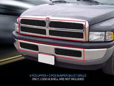 94-01 Dodge Ram Billet Black Grille Grill Combo Insert    Fedar