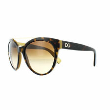 Occhiali da sole da donna Dolce&Gabbana con montatura in marrone a tecnologia lenti specchio