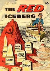 Framed Print - The Red Iceberg 10¢ Comic (Picture Communism Soviet Russia Art)