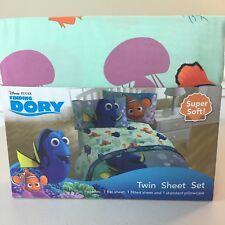 DISNEY Finding DORY Blue TWIN Sheet Set SUPER SOFT 3 PC NEW