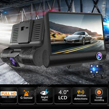 "4"" HD 1080P Dual Lens Car Dash DVR Camera Video Recorder Dash Cam G-Sensor GPS"