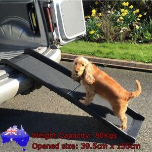 Foldable Car Dog Pet Ramp Steps Light Weight Ladder SUVs Vans Portable Stairs