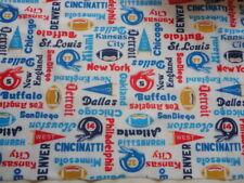 Sports Theme Fabric Vintage Football Flannel 5 yards Sleepwear Clothes Crafting