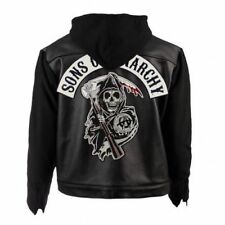 Soa Sons of Anarchy à Capuche Véritable Veste Cuir