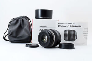 【Near Mint】Canon EF-S 60mm F2.8 Macro USM AF Lens With Box Case From Japan