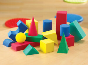 3D Foam Shapes (36 Pieces) Geometric Educational Learning Pre School KS1 Build