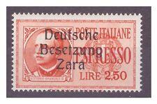 ZARA  1943  ESPRESSI -  LIRE 2,50  -    NUOVO **
