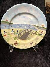Mesa International Handcrafted In Hungary/Beach Design-Set of 4 Lunch Plates