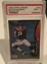 1998 Topps Chrome Refractor Peyton Manning Rookie Card RC #165 PSA 9 Colts
